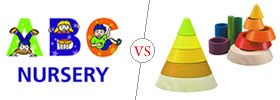 Difference between Nursery and Montessori