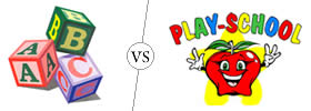 Difference between Nursery and Playschool