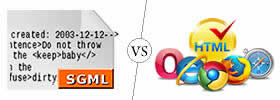 Difference between SGML and HTML