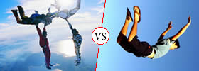 Difference between Skydiving and Free Falling