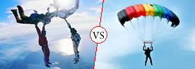 Difference between Skydiving and Paragliding
