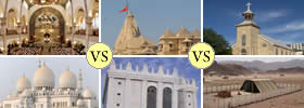 Difference between Synagogue, Temple, Church, Mosque, Shul and Tabernacle