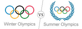 Difference between Winter Olympics and Summer Olympics