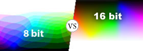 Difference between 8 Bit and 16 Bit Color