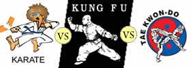 Difference between Karate, Kung Fu and Taekwondo