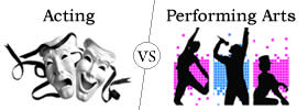 Difference between Acting and Performing Arts