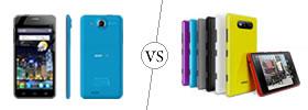Alcatel One Touch Idol Ultra vs Nokia Lumia 820