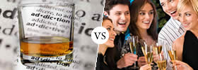Difference between Alcoholic and Social Drinker