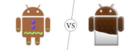 Android Gingerbread vs Ice Cream Sandwich