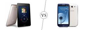 Asus FonePad vs Samsung Galaxy S3