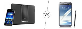 Asus PadFone Infinity vs Galaxy Note II