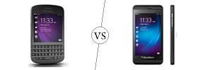 Blackberry Q10 vs Blackberry Z10