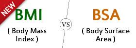 BMI vs BSA