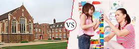 Difference between Boarding School and Day School