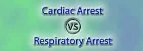Cardiac Arrest vs Respiratory Arrest