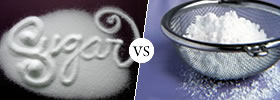 Castor Sugar vs Icing Sugar