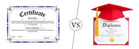 Certificate vs Diploma