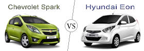 Compare Chevrolet Spark and Hyundai Eon