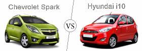 Compare Chevrolet Spark and Hyundai i10