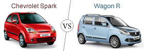 Compare Chevrolet Spark and Maruti Suzuki Wagon R