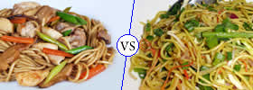 Difference between Chow Mein and Hakka Noodles