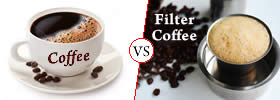 Difference between Coffee and Filter Coffee