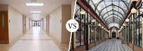 Corridor vs Passage