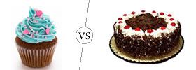Cupcake vs Cake