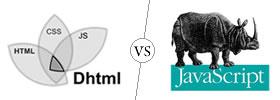 DHTML vs JavaScript