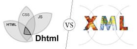 DHTML vs XML
