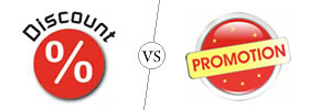 Difference between Discount and Promotion