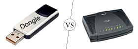 Difference between Dongle and Modem