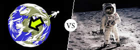 Difference between Earth and Moon Gravity