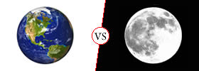 Difference between Earth and Moon