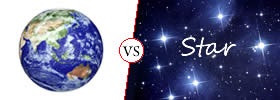 Difference between Earth and Star