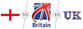 England vs Britain vs UK