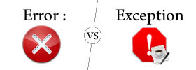 Difference between Error and Exception