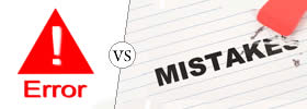 Error vs Mistake
