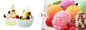 Frozen Yogurt vs Ice Cream