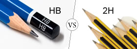 Difference between HB and 2H Pencil