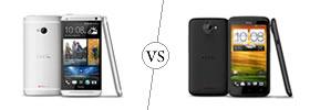HTC One vs HTC One X