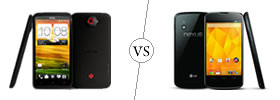 HTC One X+ vs Nexus 4