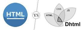 HTML vs DHTML