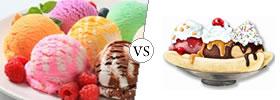 Ice-cream vs Sundae