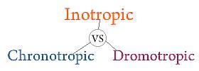 Inotropic vs Chronotropic vs Dromotropic