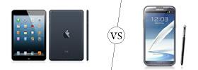 iPad Mini vs Galaxy Note II