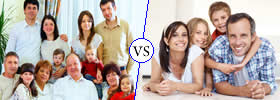 Difference between Joint Family and Nuclear Family