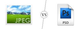 JPEG vs PSD