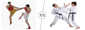 Difference between Kickboxing and Karate