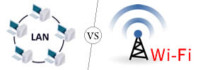 Difference between LAN and Wi-Fi